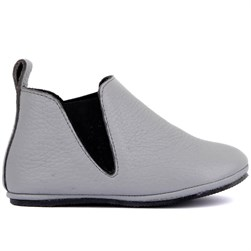 Sail Lakers - Grey Leather Baby Shoes