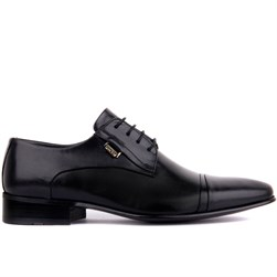 Black Leather Mens Classic Shoes