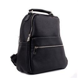 Moxee - Black Color Vegan Leather Womens Backpack