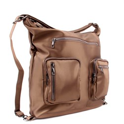 Moxee - Copper Color Satin Fabric Womens Backpack, Shoulder Bag