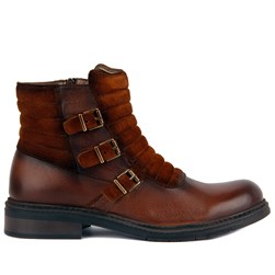 Tobacco Genuine Leather Mens Boots