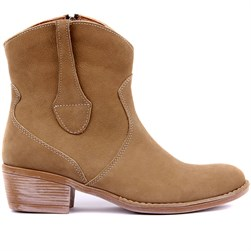 Sail Lakers - Sand Color Nubuck Zippered Womens Boots