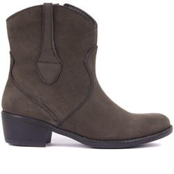 Sail Lakers - Grey Nubuck Zippered Womens Boots
