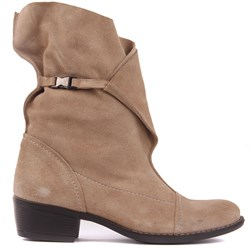 Sail Lakers - Beige Suede Genuine Leather Womens Boots