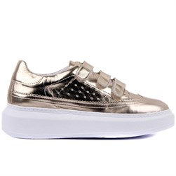 Sail Lakers - Moxee - Gold Vegan Leather Womens Sneakers