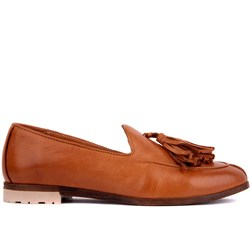 Sail Lakers - Tobacco Genuine Leather Womens Slip-on Loafer