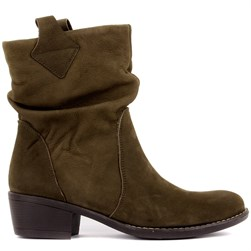 Sail Lakers - Khaki Nubuck Slip On Womens Boots
