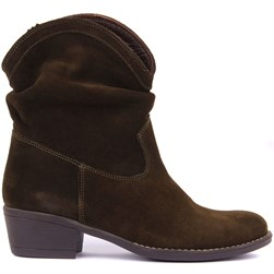 Sail Lakers - Khaki Suede Slip On Womens Boots