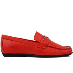 Red Genuine Leather Mens Shoes