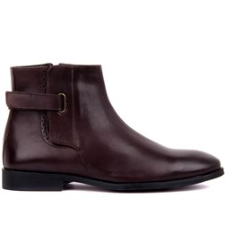 Brown Genuine Leather, Genuine Leather Sole Mens Boots
