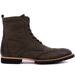 Grey Nubuck Mens Boots