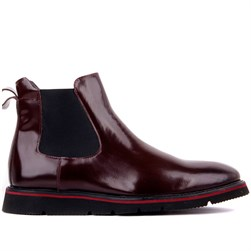 Claret Red Tanning Genuine Leather Mens Boots