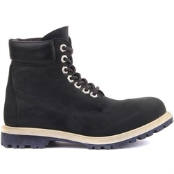 Sail Lakers - Navy Blue Nubuck Lace Up Womens Boots
