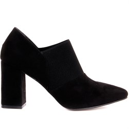 Moxee - Black Suede, Vegan Leather Womens Heeled Shoes