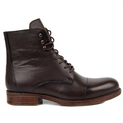Dark Brown Genuine Leather Mens Boots