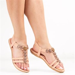 Guja - Pink Vegan Leather Womens Sandals
