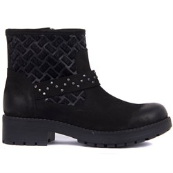 Sail Lakers - Black Nubuck Zippered Womens Boots