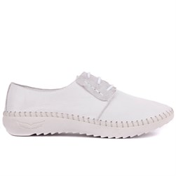 Sail Lakers - White Genuine Leather  Womens Sneaker