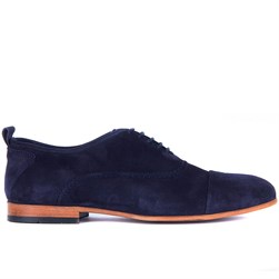 Navy Blue Suede Mens Shoes