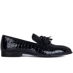Black Genuine Patent Leather Mens Shoes