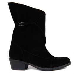 Sail Lakers - Black Suede Foldable Womens Boots