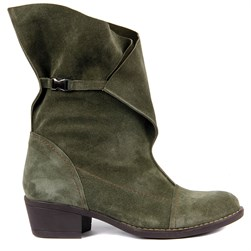Sail Lakers - Green Suede Foldable Womens Boots