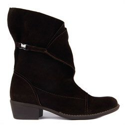Sail Lakers - Brown Suede Foldable Zippered Womens Boots