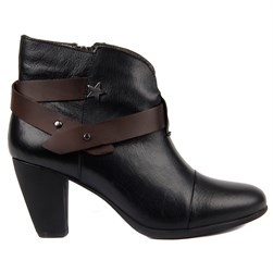 Sail Lakers - Black Genuine Leather Womens Boots