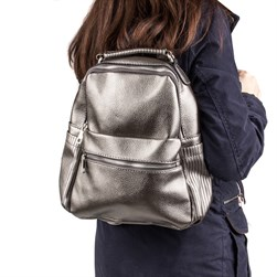 Moxee - Bronze Color Vegan Leather Womens Backpack