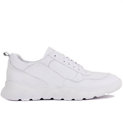 White Leather Mens Sneakers
