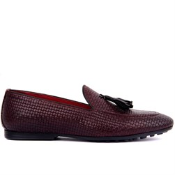 Claret Red Genuine Leather Mens Shoes
