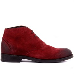 Claret Red Suede Mens Boots