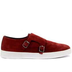 Sail Lakers - Bordo Süet Erkek Sneaker