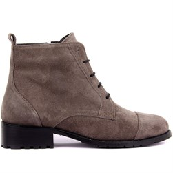 Sail Lakers - Grey Suede Zippered Womens Boots