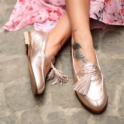 Sail Lakers - Bronze Genuine Leather Womens Slip-on Loafer