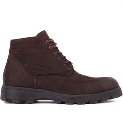Brown Nubuck Mens Boots