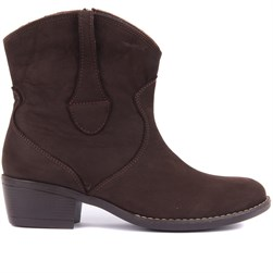 Sail Lakers - Brown Nubuck Zippered Womens Boots