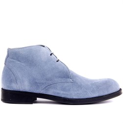Light Jean Blue Suede Mens Boots