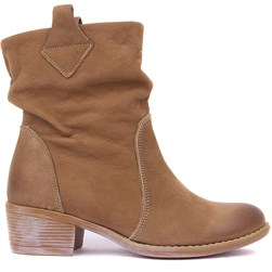 Sail Lakers - Sand Color Nubuck Slip On Womens Boots