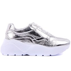 Sail Lakers - Platinum Genuine Leather Womens Sneaker