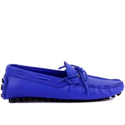 Sail Lakers - Saks Mavisi Deri Erkek Loafer
