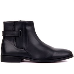 Black Genuine Leather, Genuine Leather Sole Mens Boots