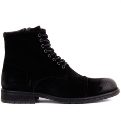 Black Suede Mens Boots