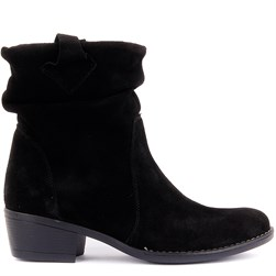 Sail Lakers - Black Suede Leather Slip On Womens Boots
