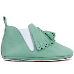 Sail Lakers - Water Green Leather Baby Shoes