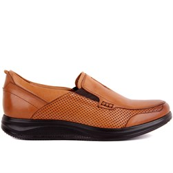 Tobacco Genuine Leather Mens Comfort Shoes