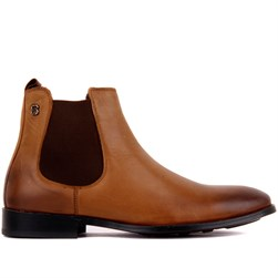 Tobacco Genuine Leather, Leather Sole Mens Boots