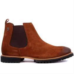 Tobacco Suede Mens Boots