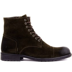 Green Suede Mens Boots