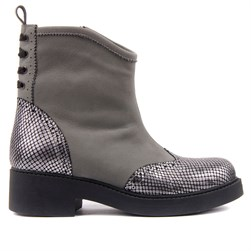 Sail Lakers - Grey Genuine Leather Womens Boot